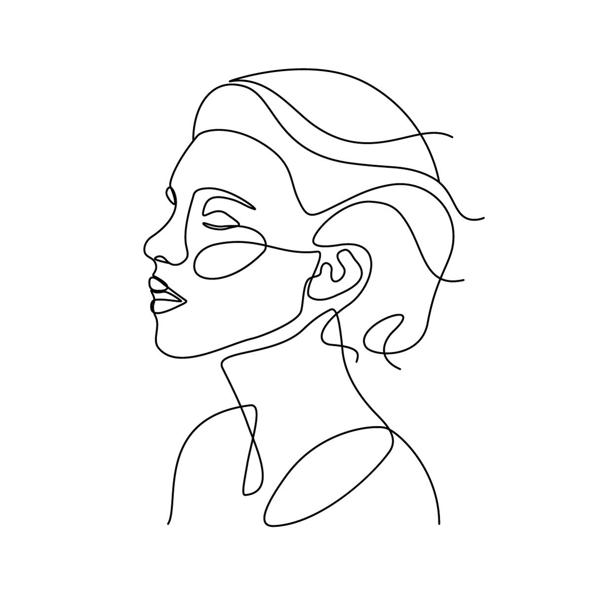 head-line-drawing-bw